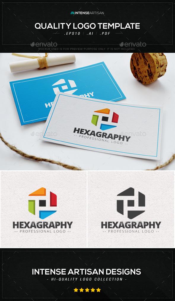 Hexagraphy Logo Template - Abstract Logo Templates