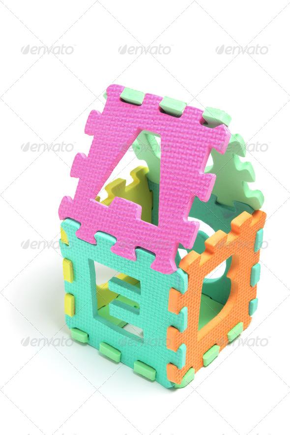 Alphabet Puzzle Cube - Stock Photo - Images