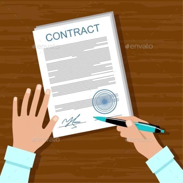 Signing a Contract - Business Conceptual