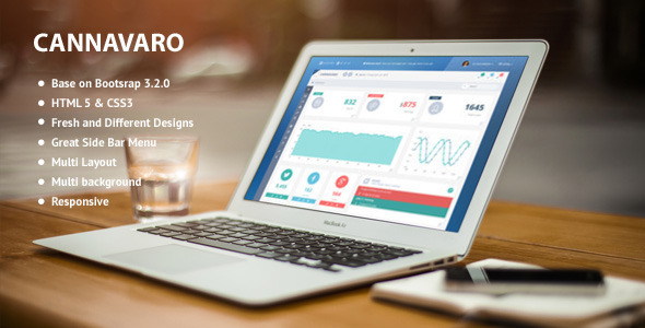 Cannavaro - Notepad Memo Admin Dashboard Template