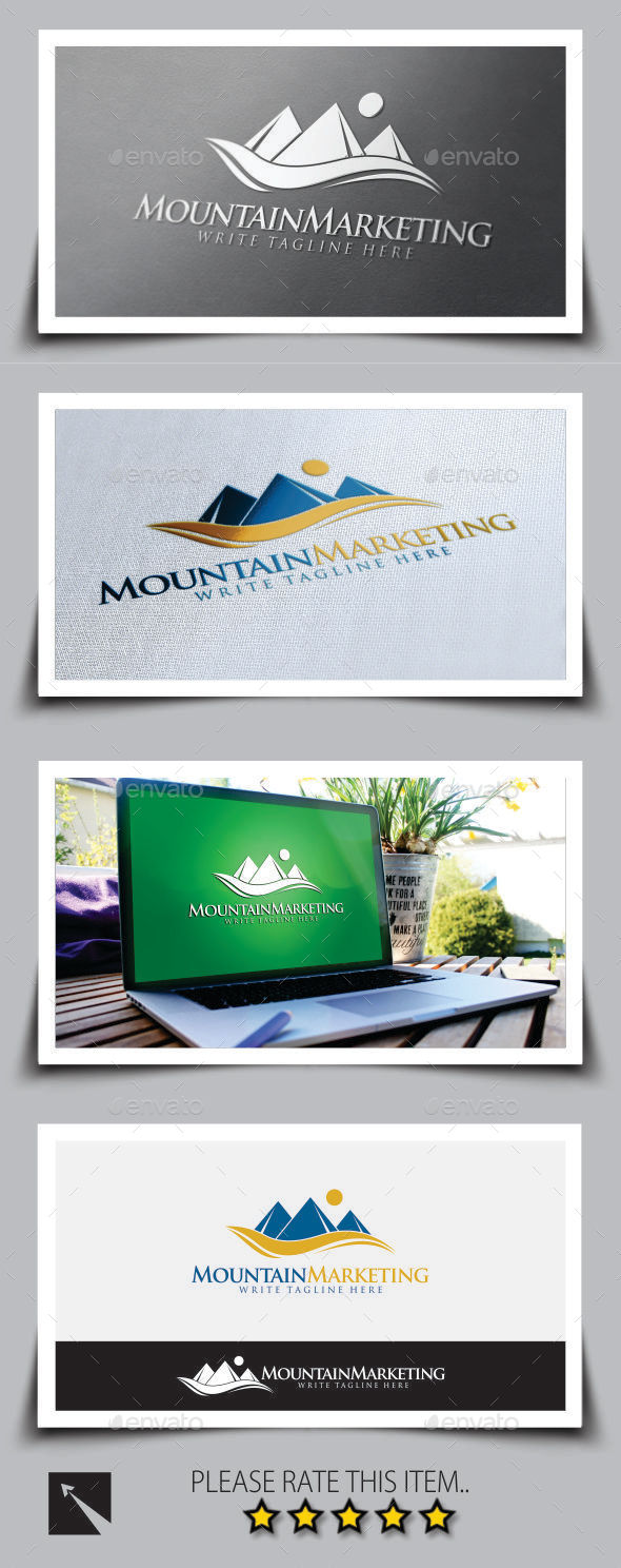 Mountain Marketing Logo Template - Nature Logo Templates