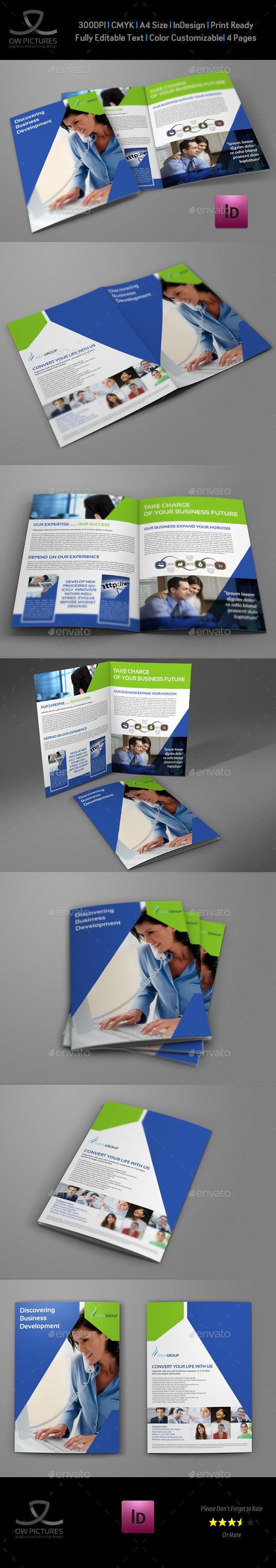Company Brochure Bi-Fold Template Vol.32 - Corporate Brochures