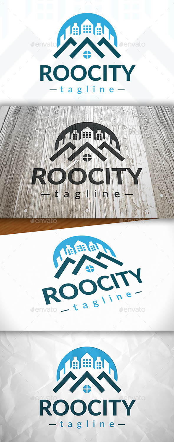 Roof City Logo - Buildings Logo Templates