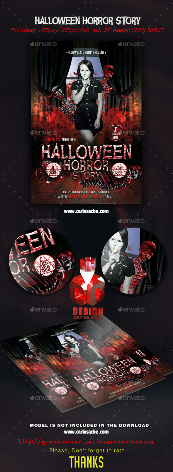 Halloween Horror Story - Flyer Template - Holidays Events