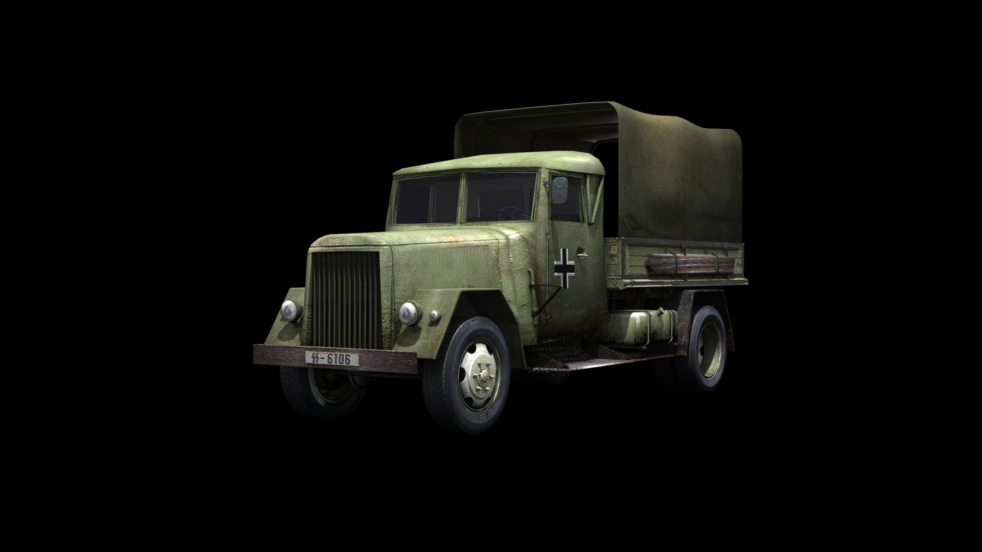 German WWII Henschel Truck