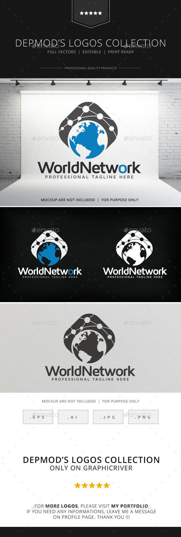 World Network Logo - Symbols Logo Templates