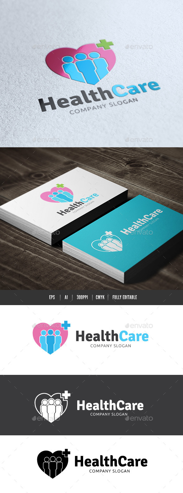 Health Care - Humans Logo Templates