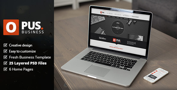 Opus – Business PSD Template