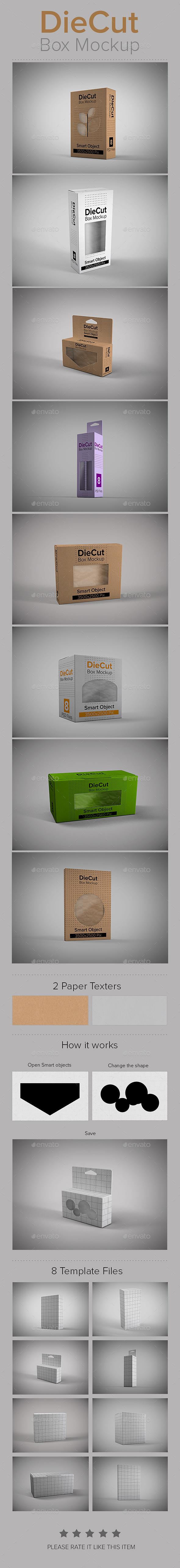 DieCut Box Mockup - Miscellaneous Packaging