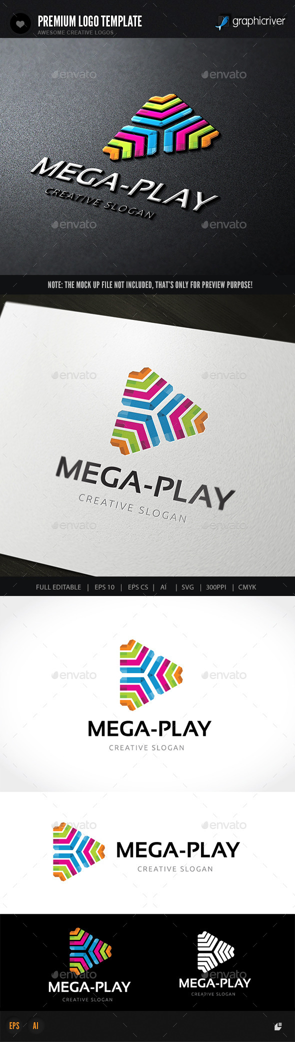 Mage Play - Abstract Logo Templates