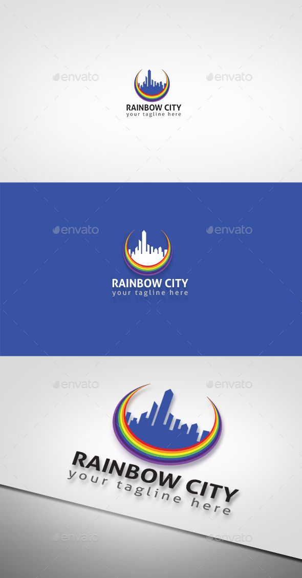 Rainbow City - Nature Logo Templates