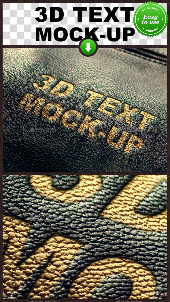 Leather Text Mockup - Miscellaneous Product Mock-Ups