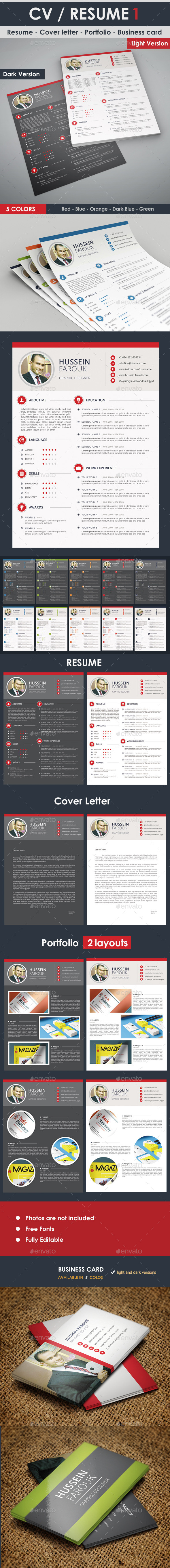 Resume - Cover Letter - Portfolio - Business Card - Resumes Stationery