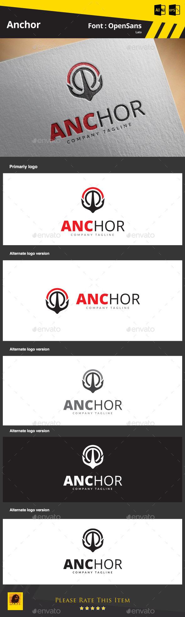 Anchor Logo - Objects Logo Templates
