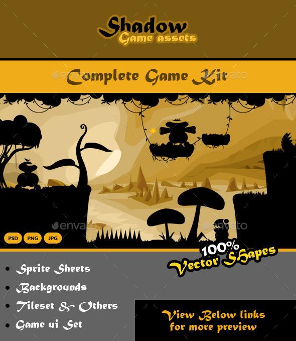 Shadow Game Kit Bundle - Game Kits Game Assets
