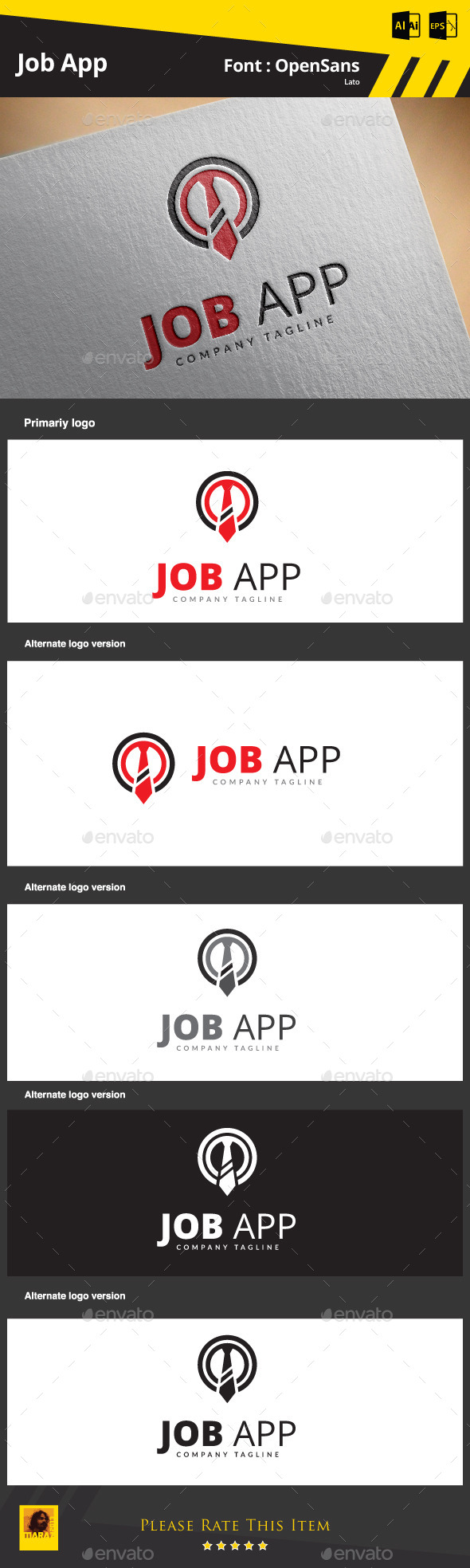 Job App - Objects Logo Templates