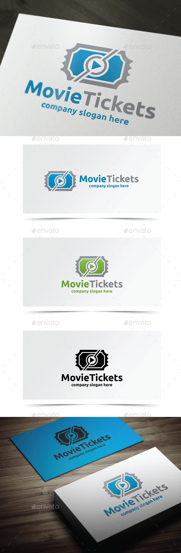 Movie Tickets - Objects Logo Templates