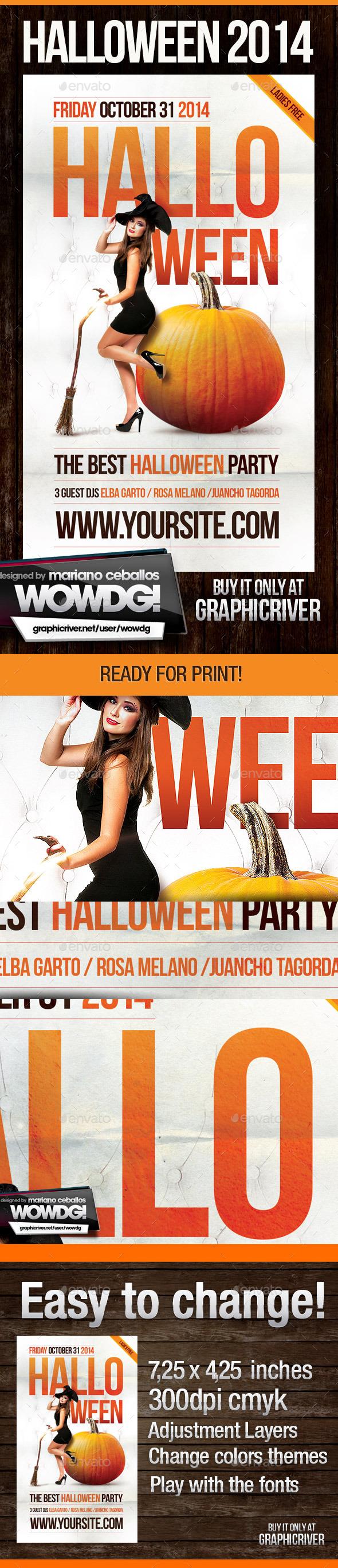 Halloween Party - Flyers Print Templates