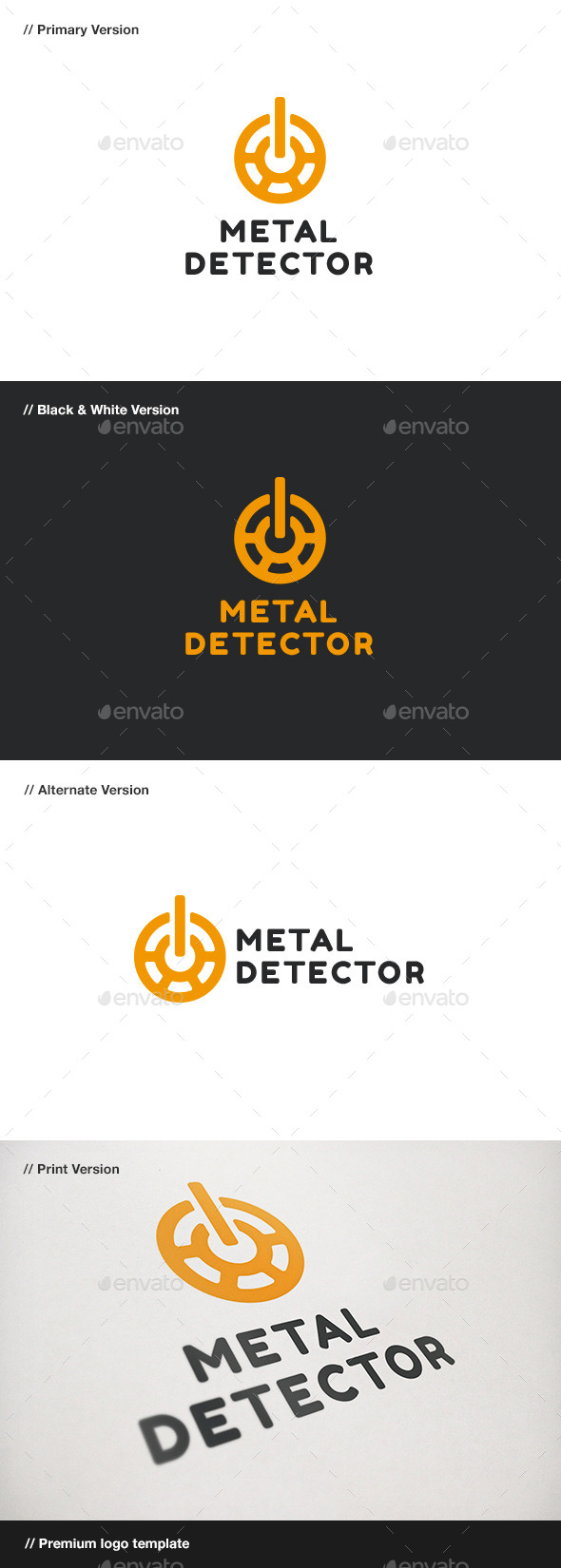 Metal Detector Logo - Objects Logo Templates