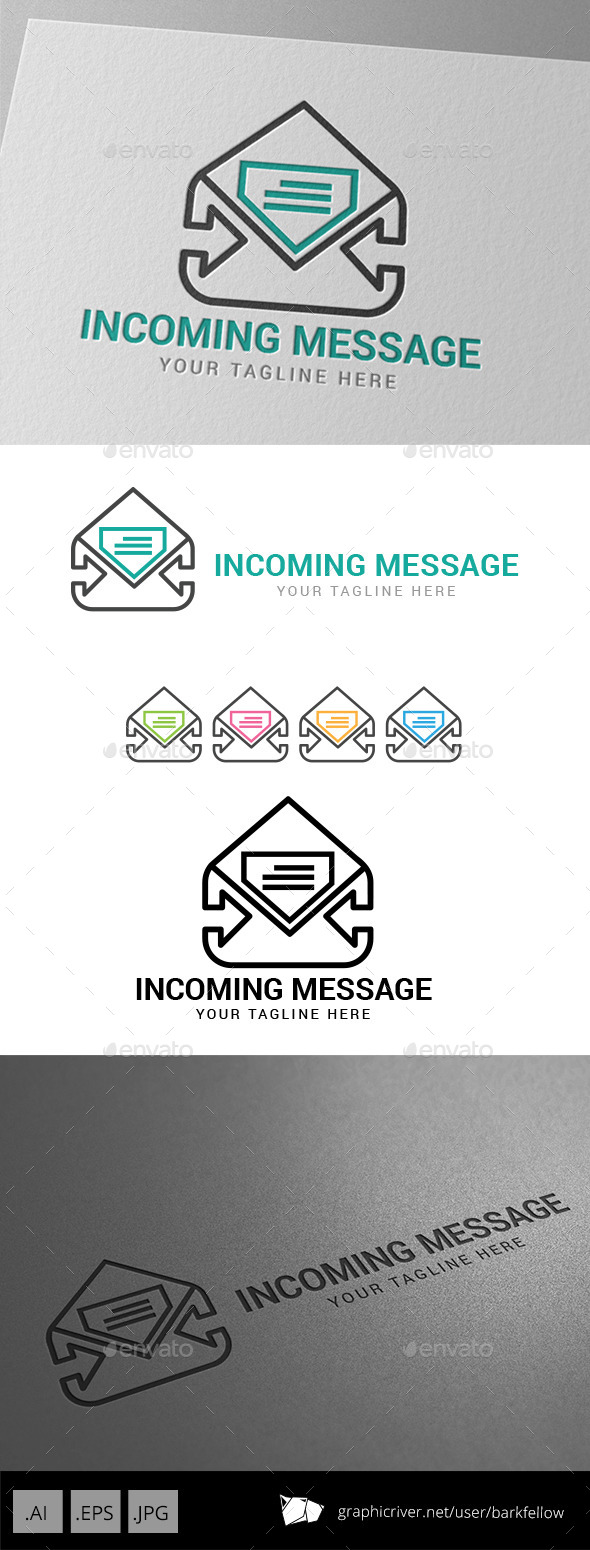 Incoming Message Logo - Objects Logo Templates