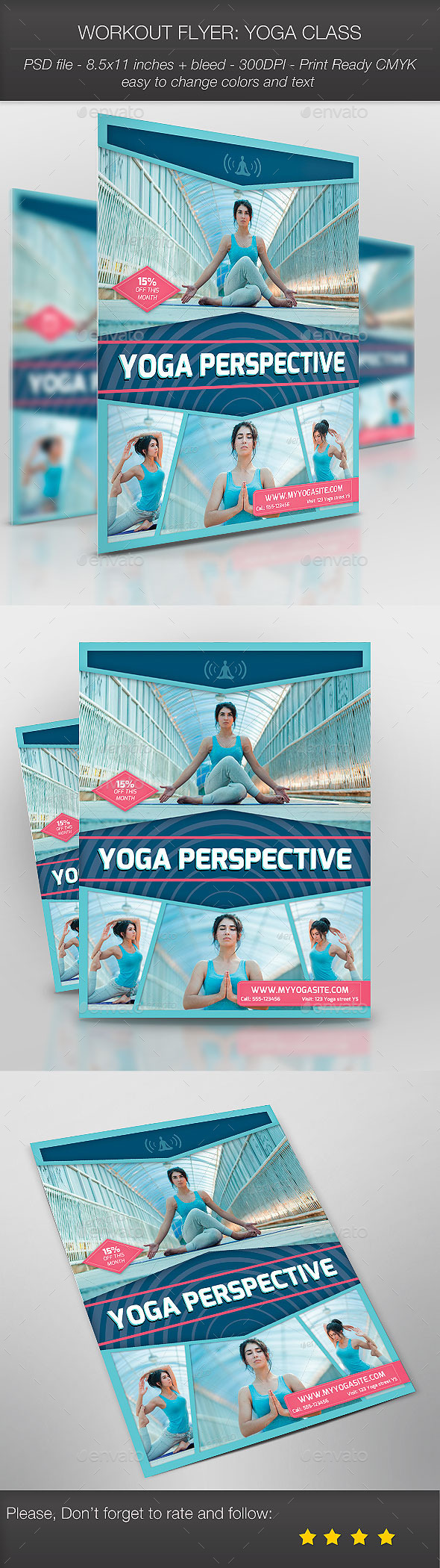 Workout Flyer: Yoga Class - Sports Events