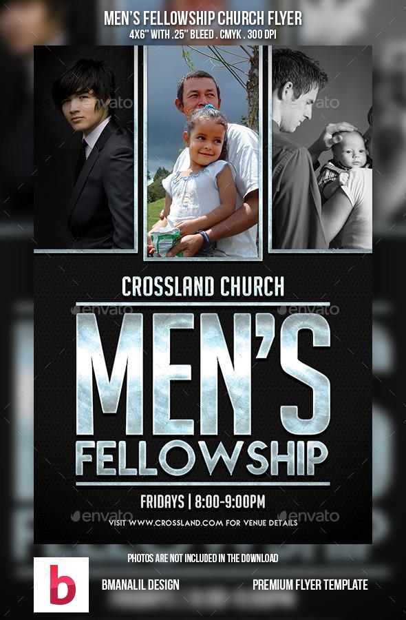Men's Fellowship Church Flyer - Church Flyers