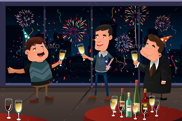 New Year Eve party indoor - New Year Seasons/Holidays