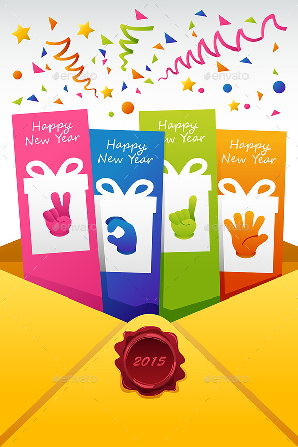 New Year 2015 Sign Vector Illustration of New Year - New Year Seasons/Holidays