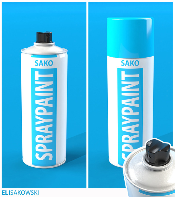 Spray Paint Can - 3DOcean Item for Sale