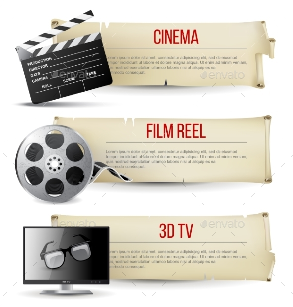 Cinema Banners - Backgrounds Decorative