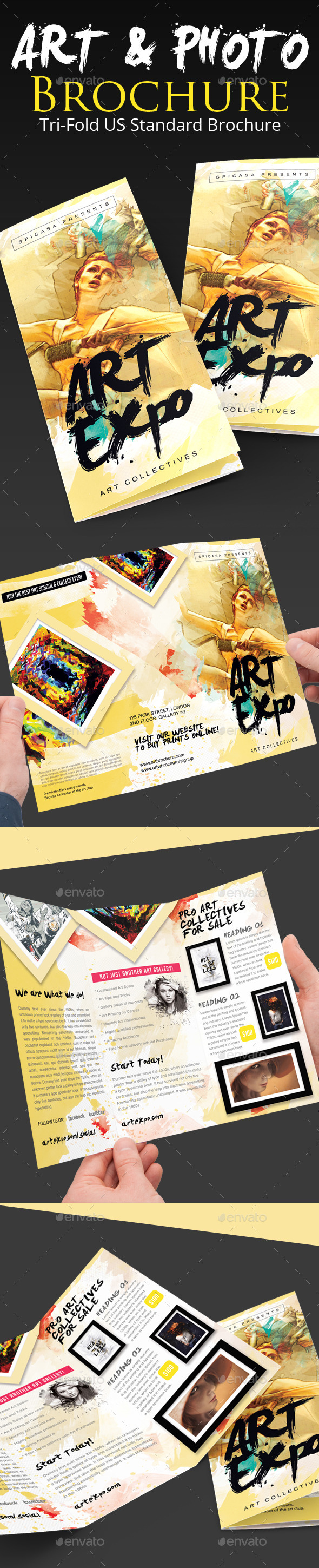 Art Show/Expo Trifold Brochure - Brochures Print Templates