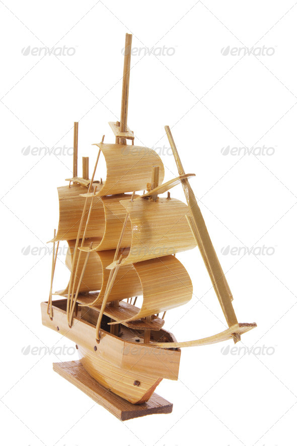 Wooden Sail Boat - Stock Photo - Images