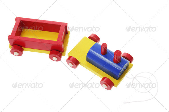 Wooden Toy Train - Stock Photo - Images