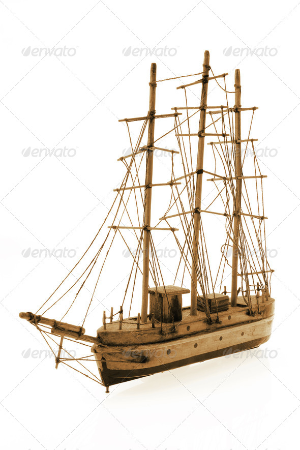 Wooden Antique Tall Ship - Stock Photo - Images