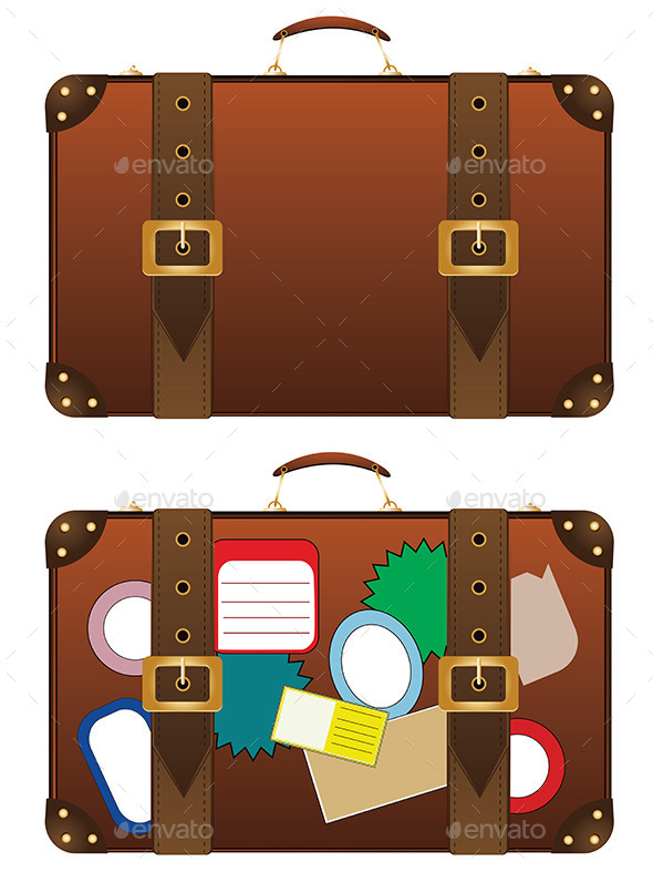 Traveling Suitcase - Objects Vectors