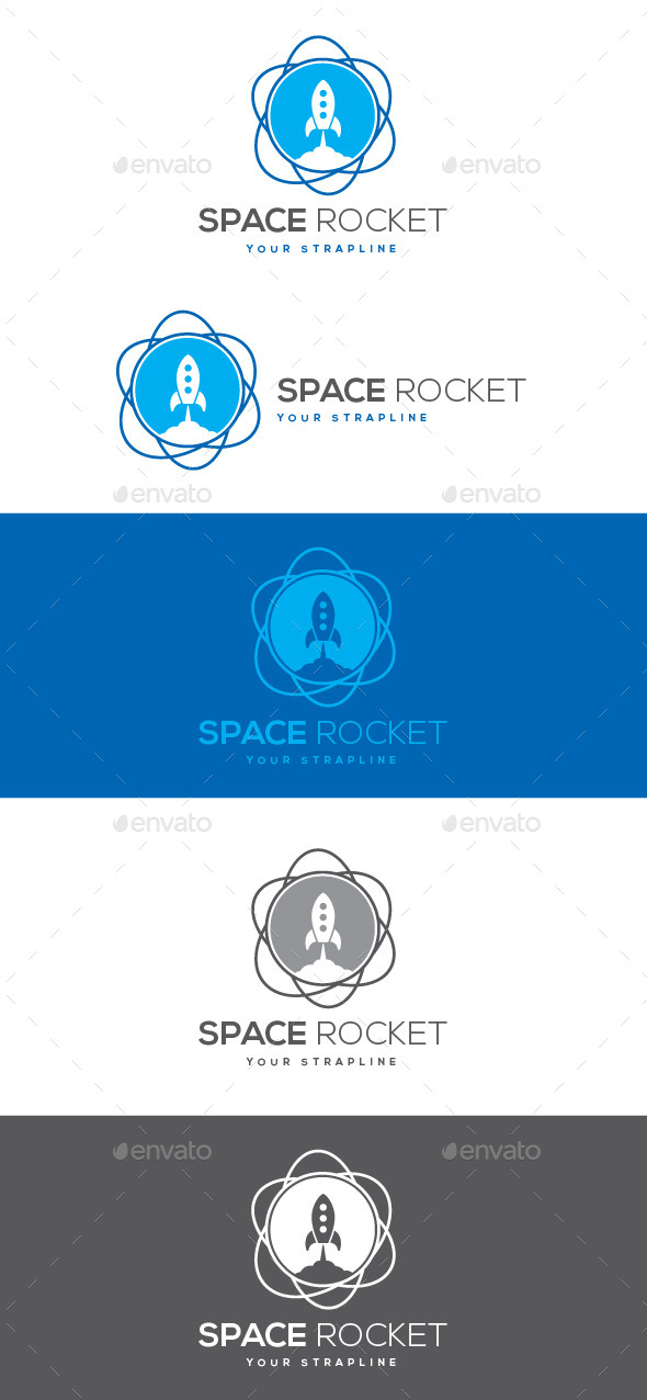Space Rocket Logo - Objects Logo Templates