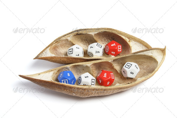 Dice in Dry Pods - Stock Photo - Images