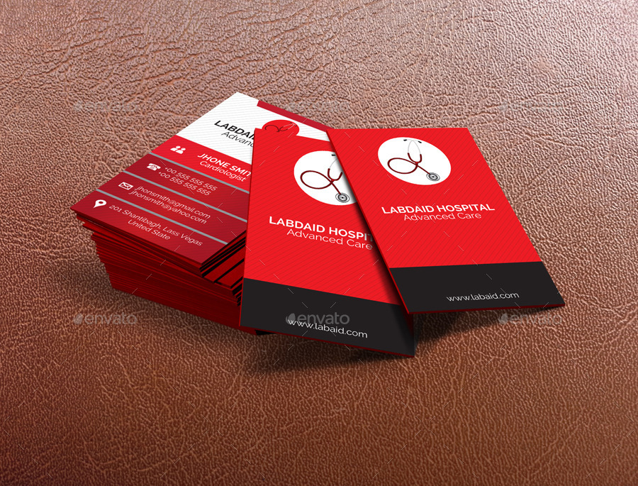 Minimal Medical Business Card By Dinamicostudio  Graphicriver