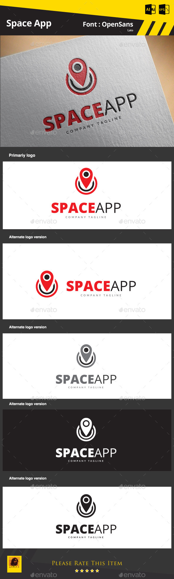 Space App - Symbols Logo Templates