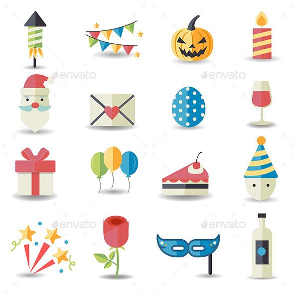 Celebration and Party Icons - Seasonal Icons