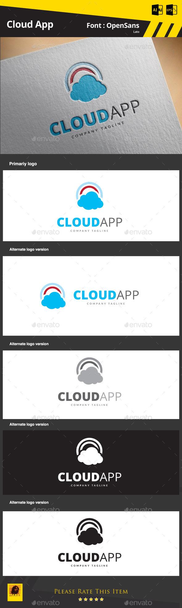 Cloud App - Symbols Logo Templates