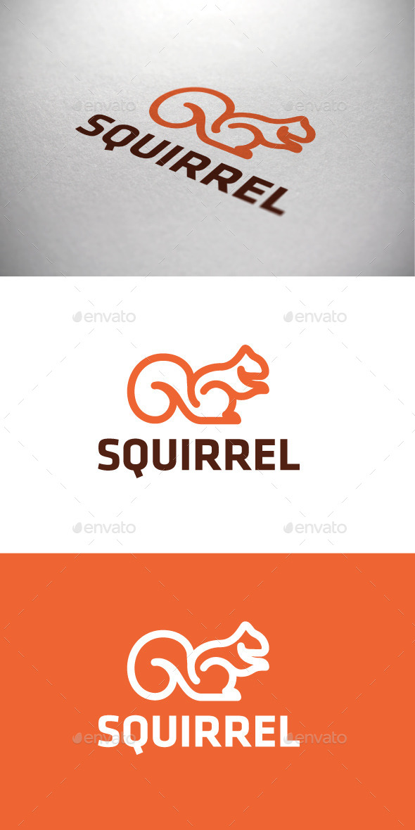 Squirrel Logotype - Animals Logo Templates