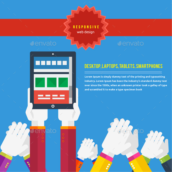 Responsive Web Design Concept - Technology Conceptual