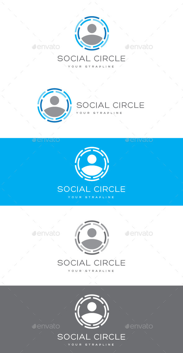 Social Circle Logo - Humans Logo Templates