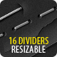 16 Dividers (Horizontal Rules) - Resizable - GraphicRiver Item for Sale