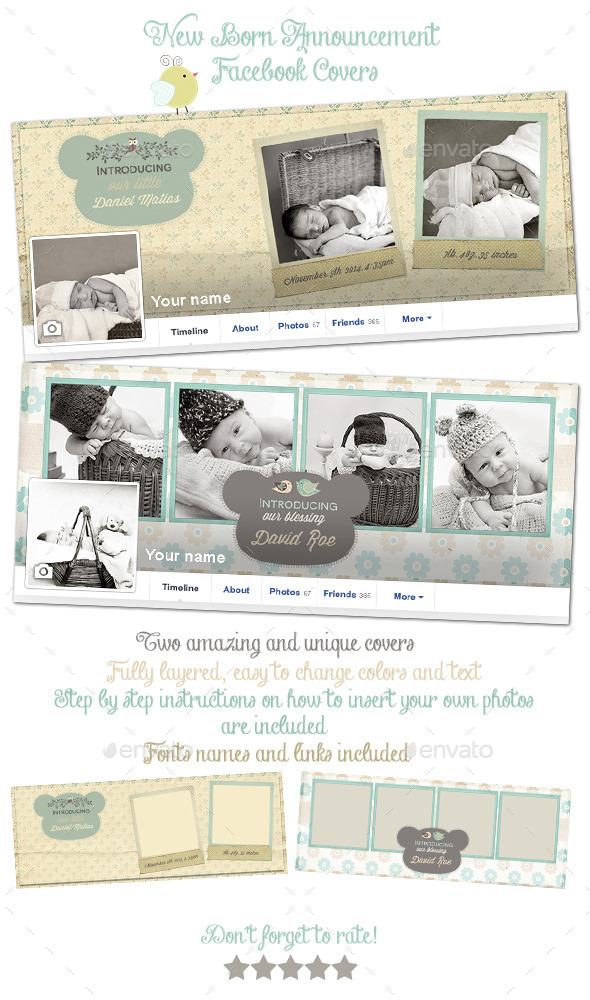 New Born Announcement Facebook Covers - Facebook Timeline Covers Social Media
