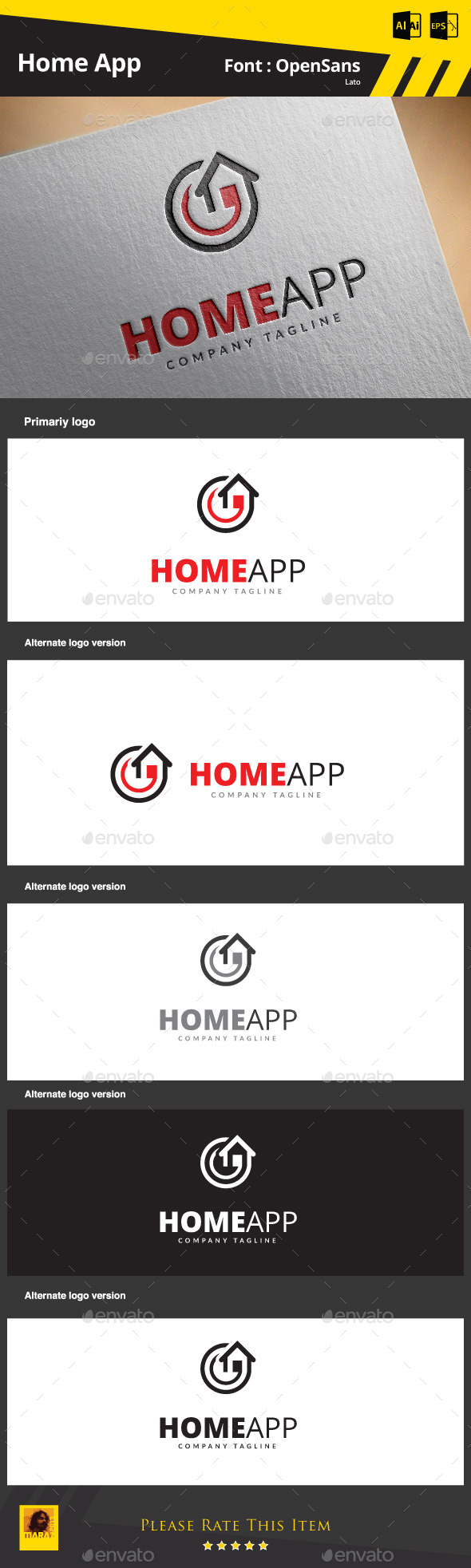 Home App - Objects Logo Templates