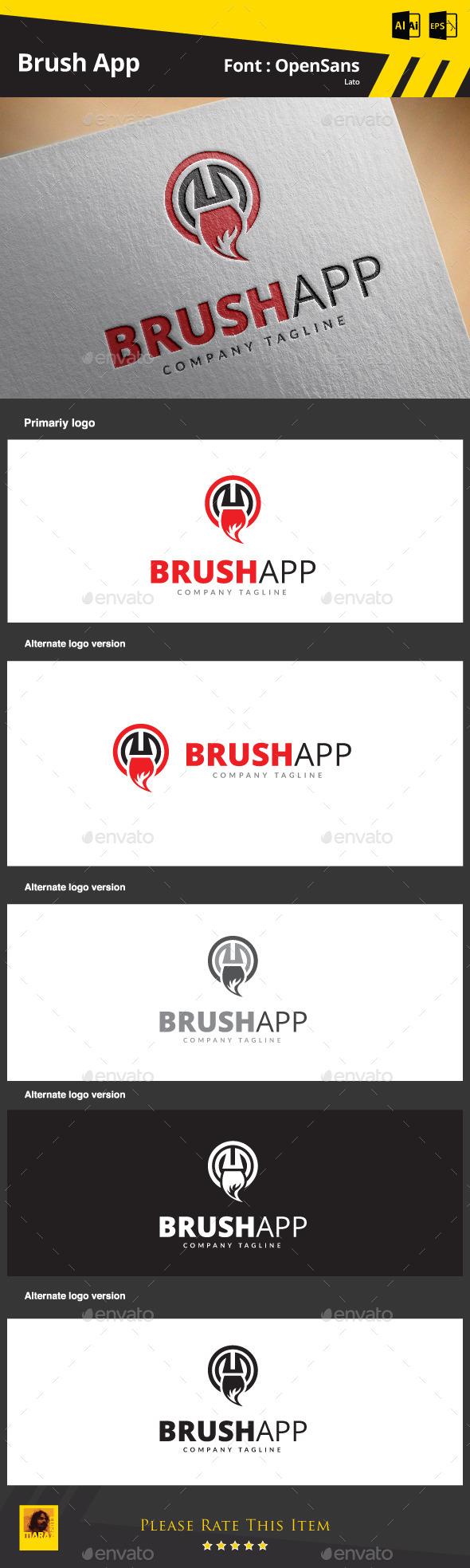 Brush App - Objects Logo Templates