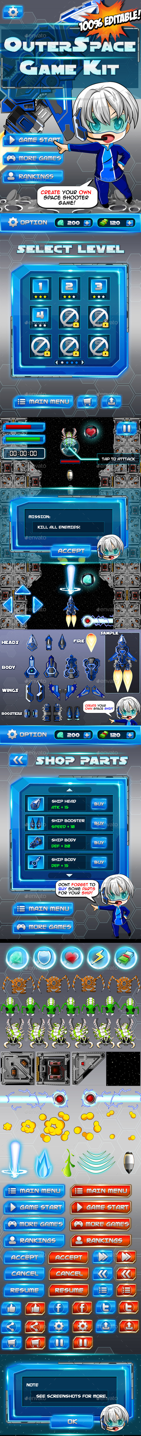 Outer Space Game Kit  - Game Kits Game Assets