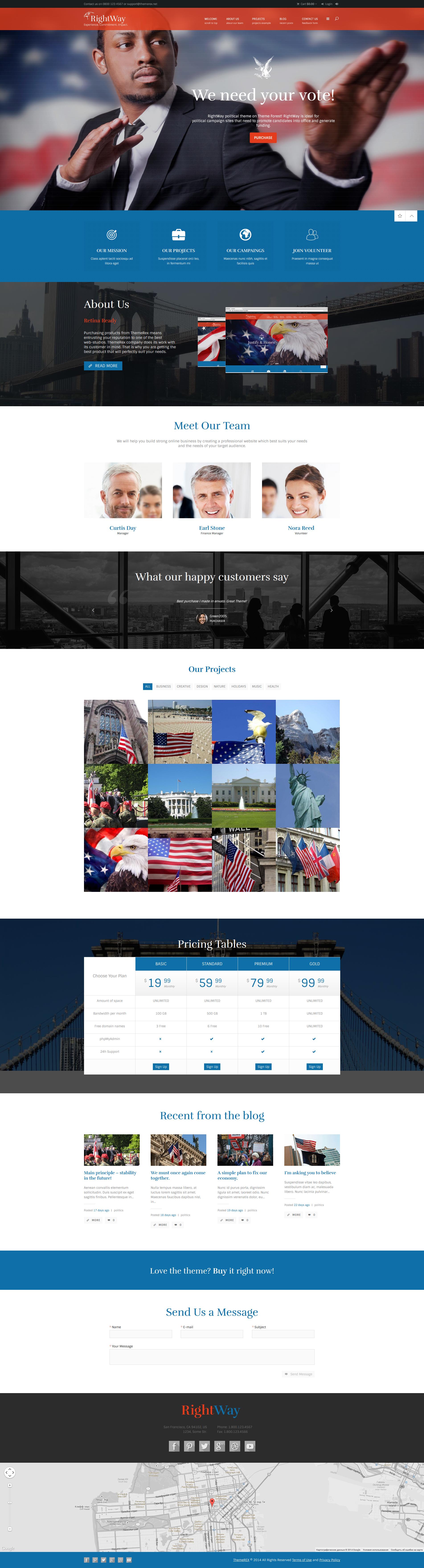 Right Way | Political WordPress Theme by ThemeREX | ThemeForest